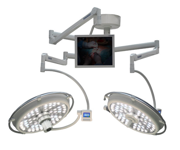 SL700 LED Ceiling Mount Operating Theatre Light (Dual Head 700mm/700mm) - 160,000 Lux/160,000 Lux