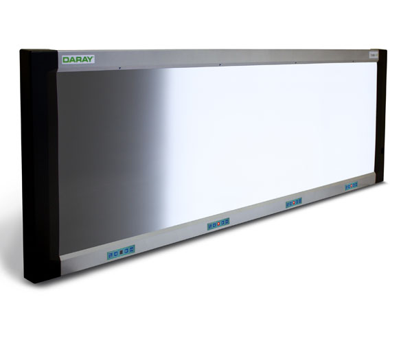 The DARAY DX4100LED series X-Ray Film Viewers feature a distinctive, modern and slim design, only 45mm deep