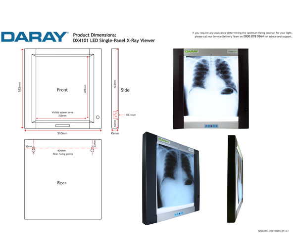 DX4101 LED Single-Panel X-Ray Viewer