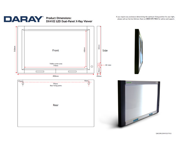 DX4102 LED Dual-Panel X-Ray Viewer
