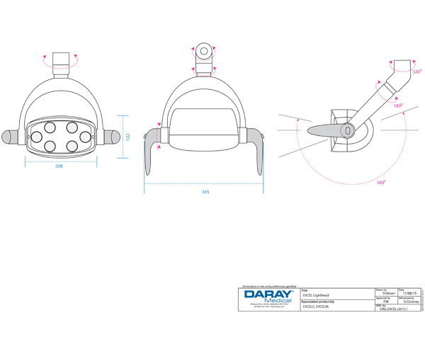 Daray Excel Head Technical Diagram